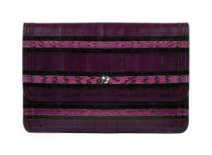 Givenchy Violet Printed Ayers Patchwork Clutch Bag