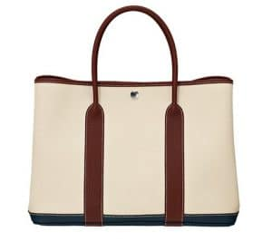 Hermes Beige Canvas Garden Party Medium Bag