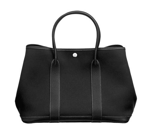 Hermes Black Canvas Garden Party Medium Bag ef4e30f4ab2dd