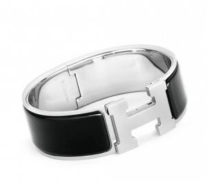 Hermes Black Clic-Clac H Bracelet