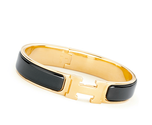 Hermes Black Clic H Bracelet