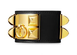 Hermes Black Collier de Chien Small Bracelet