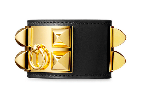 Hermes Black Collier De Chien Small Bracelet
