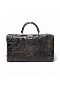 Hermes Black Crocodile Duffle Bag - Fall 2013