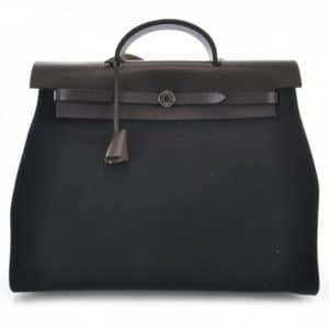 Hermes Black Herbag Zip 39 Bag