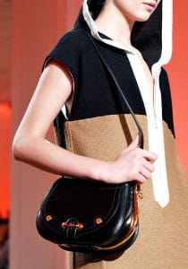 Hermes Black Passe-Guide Bag - Spring 2012 Runway
