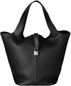 Hermes Black Picotin Lock TGM Bag