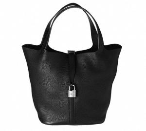 Hermes Black Picotin Lock GM Bag