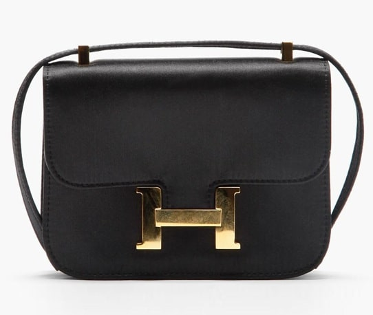Hermes Black Satin Constance Micro Bag 0714e511b4fb5