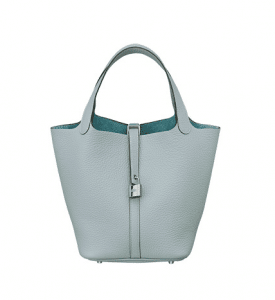 Hermes Bleu Lin Picotin Lock MM Bag
