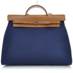 Hermes Bleu de Malte Herbag Zip 39 Bag