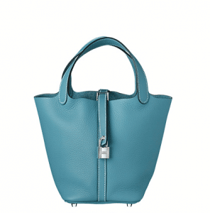 Hermes Blue Jean Picotin Lock PM Bag