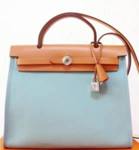 Hermes Blue Tempete Herbag Zip 39 Bag