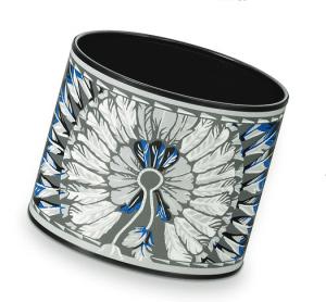 Hermes Brazil Mega Wide Enamel Bracelet