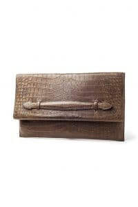 Hermes Brown Crocodile Clutch Bag - Fall 2013
