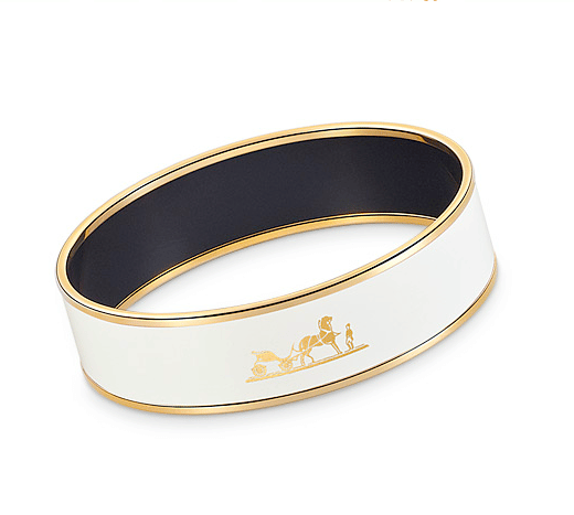 Hermes Caleche Wide Enamel Bracelet