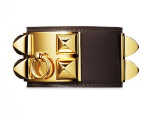 Hermes Chocolate Collier de Chien Large Bracelet