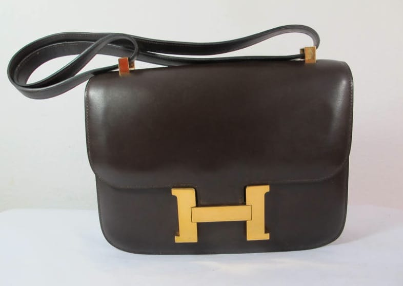 Hermes Chocolate Constance 23 Mm Bag