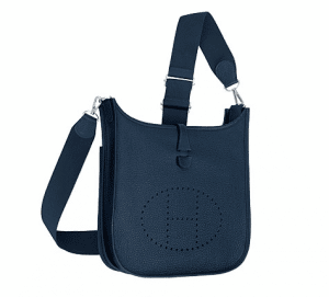 Hermes Deep Blue Evelyne III PM Bag