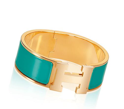Hermes Emerald Clic Clac H Bracelet