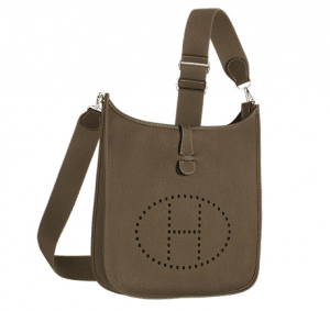 Hermes Etoupe Evelyne III GM Bag