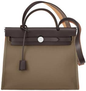 Hermes Etoupe Herbag Zip 31 Bag
