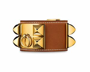 Hermes Fauve Gold Plated Collier de Chien Small Bracelet