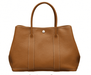 Hermes Gold Leather Garden Party Medium Bag