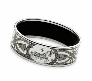 Hermes Grand Apparat Platine 2 Wide Enamel Bracelet