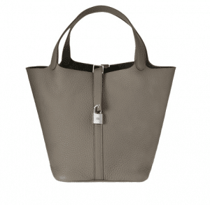 Hermes Grey Picotin Lock GM Bag