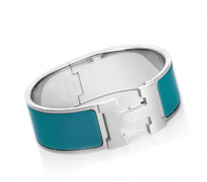 Hermes Indian Blue Clic-Clac H Bracelet