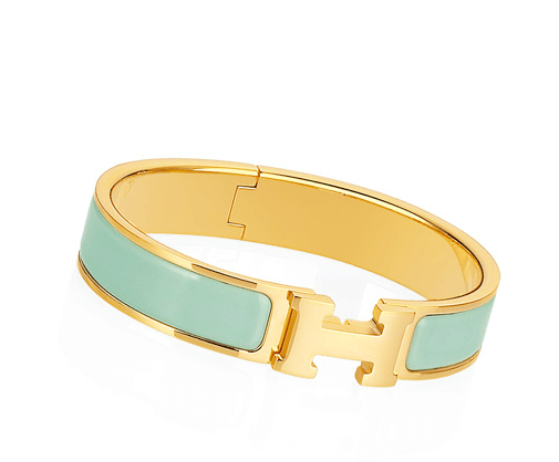 Hermes Jade Clic H Bracelet