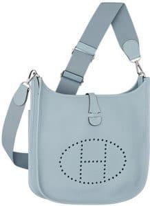 Hermes Light Blue Evelyne III PM Bag