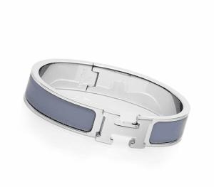 Hermes Linen Blue Clic H Bracelet