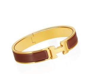 Hermes Mahogany Clic H Bracelet