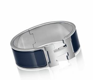 Hermes Midnight Blue Clic-Clac H Bracelet