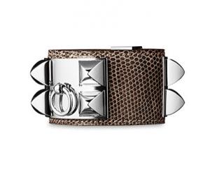 Hermes Natural Lizard Collier de Chien Small Bracelet