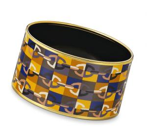 Hermes Optique Chaine d'Ancre Extra Wide Enamel Bracelets