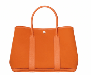 Hermes Orange Canvas Garden Party Medium Bag 1