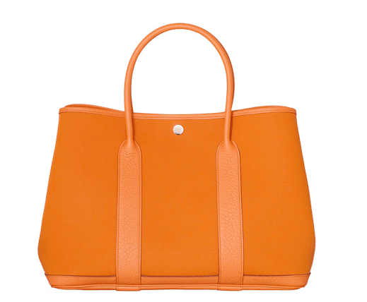 86488a5c5e6f Hermes Orange Canvas Garden Party Medium Bag 1
