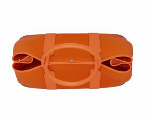 Hermes Orange Canvas Garden Party Medium Bag 3