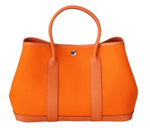 Hermes Orange Canvas Garden Party Small Bag
