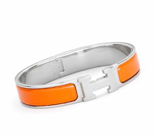 Hermes Orange Clic H Bracelet