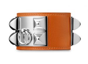 Hermes Orange Collier de Chien Small (Men's) Bracelet