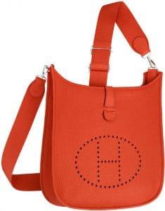 Hermes Orange Evelyne III PM Bag