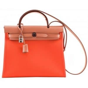 Hermes Orange Herbag Zip 39 Bag