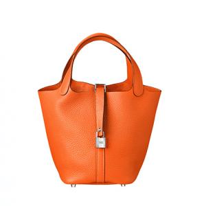 Hermes Orange Picotin Lock PM Bag