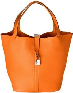 Hermes Orange Picotin Lock TGM Bag