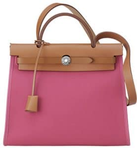 Hermes Pink Herbag Zip 31 Bag