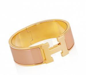 Hermes Powder Clic-Clac H Bracelet